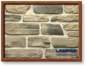 Click for a Large Photo of Lompoc Tumbled Ledge Gray Blend Thin Veneer